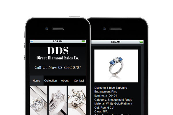 DDS Diamonds Mobile Site